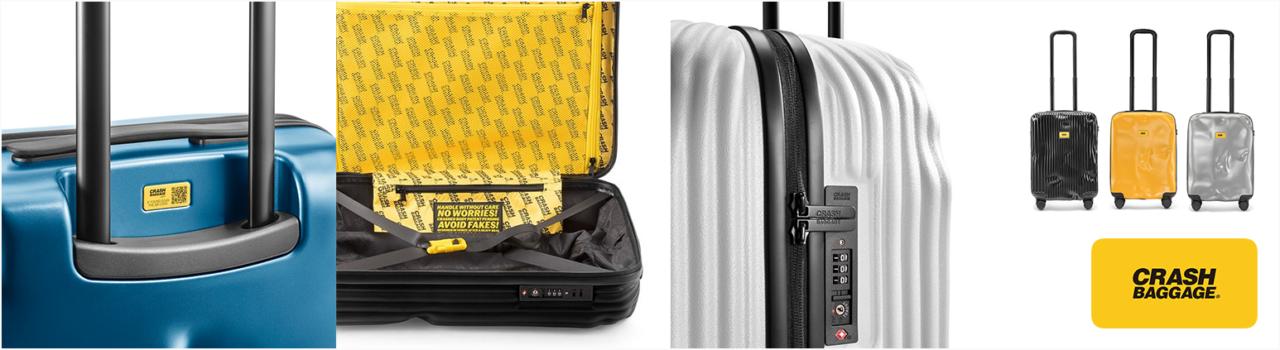 b6095174e6 イタリア、ベネチア発のスーツケースであるCRASH BAGGAGE(クラッシュバゲージ)は、最初からボディがデコボコにダメージを受けているかのような斬新なデザインの  ...
